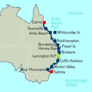 Mietwagen-Rundreise 14 Nächte ab Sydney/ bis Cairns