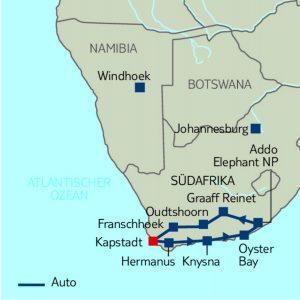 Selbstfahrerreise Gartenroute & Karoo